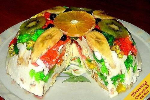 Торт битое стекло с бисквит рецепт пошагово