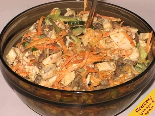 Корейские салаты из курицы