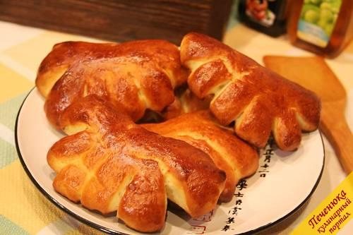 12) Вот такие сладкие булочки из дрожжевого теста получились.