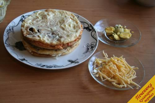 нут кукуруза зелень сыр майонез коржи