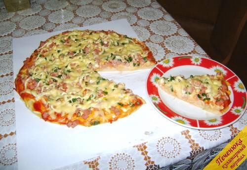 как приготовить пиццу в домашних условиях в духовке видео с колбасой