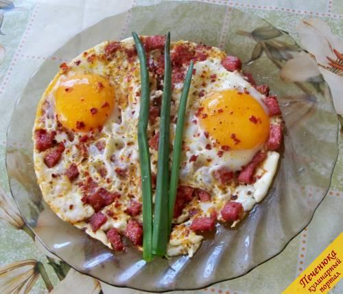 Вкусная яичница рецепт