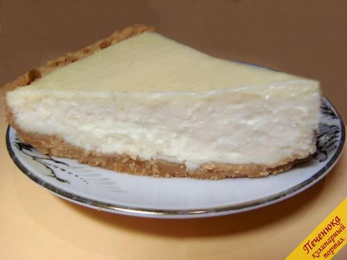 Чизкейк из творога с печеньем рецепт пошагово