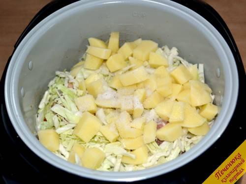 рецепт тушеной капусты в мультиварке с ребрышками