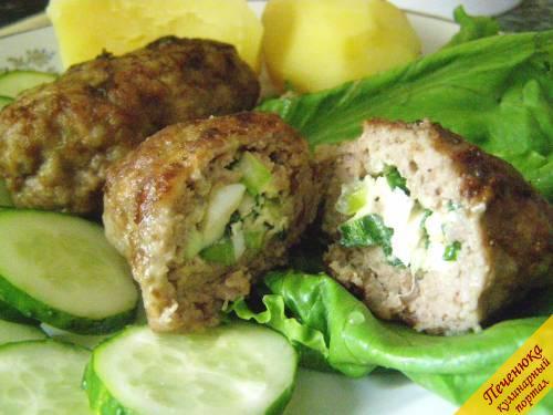 мясные зразы с яйцом и луком рецепт с фото