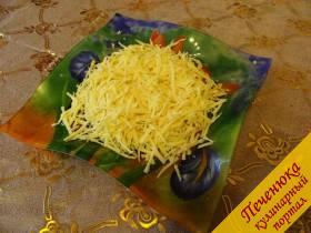 1) Любой твердый сыр натереть на крупной терке - пошехонский, российский, голландский, буковинский, одним словом, какой любите.