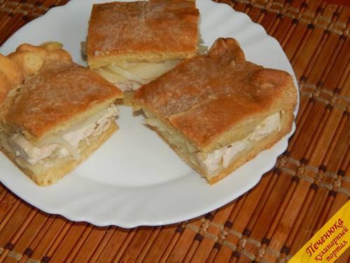 курник с курицей и картошкой пошаговый рецепт из песочного теста
