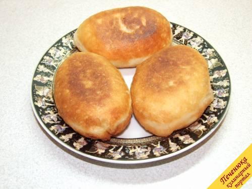 Быстрые жареные пирожки с капустой рецепт