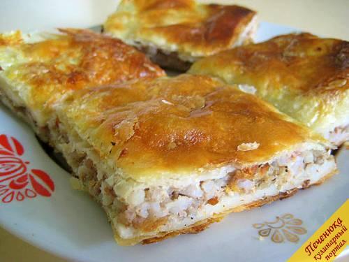 пирог с мясом рецепт пошаговый рецепт с фото