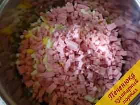 5) Далее идет вареная колбаса