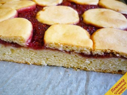 пирог с малиновым вареньем рецепт с фото пошагово