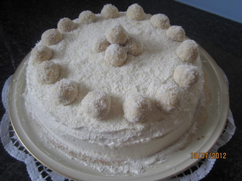 Рафаэлло торт рецепт