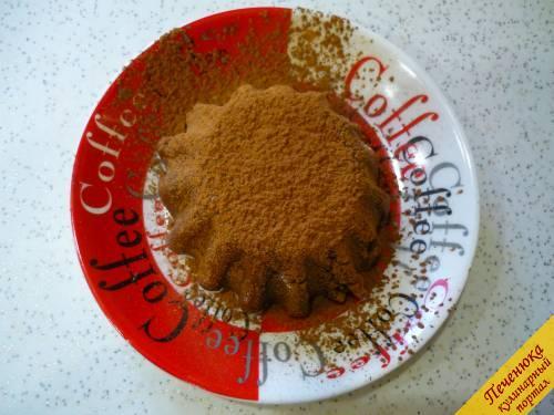 8) Любителям горького шоколада понравится присыпка из какао-порошка (тоже через ситечко).