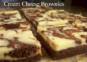 Шоколадное брауни с сыром