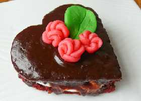 """Бисквитное печенье """"Бархатные валентинки"""""""
