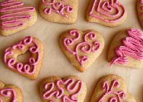 Сладкие розовые сердечки