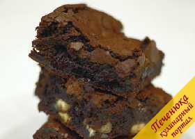 Шоколадное брауни с вишней от Джейми Оливера