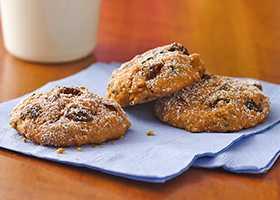 Тыквенное печенье с изюмом из крошки печенья
