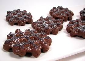 Шоколадные вафельные печенья