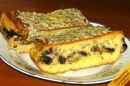 Пирог с грибами (рецепт)