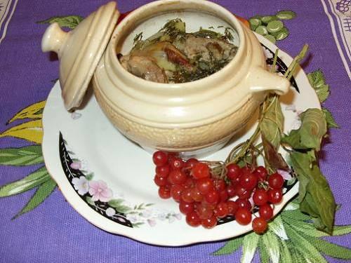 Жаркое в горшочках (рецепт)
