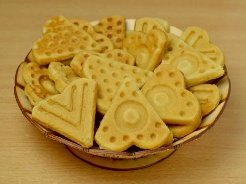 Печенье в вафельнице